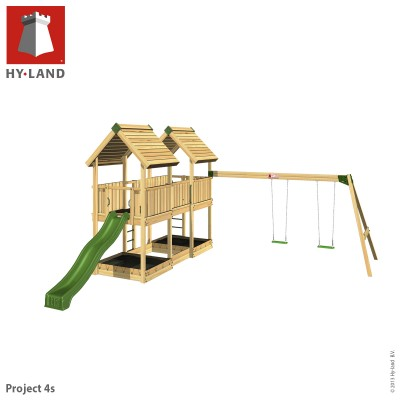 Commercial climbing frame & swings