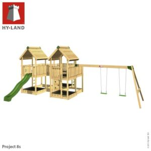 Wooden Climbing Frame & Swings Commercial