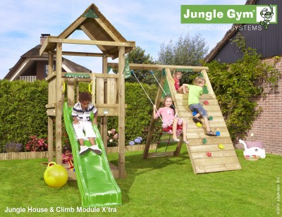 Jungle House Shown with a Climb Module Xtra