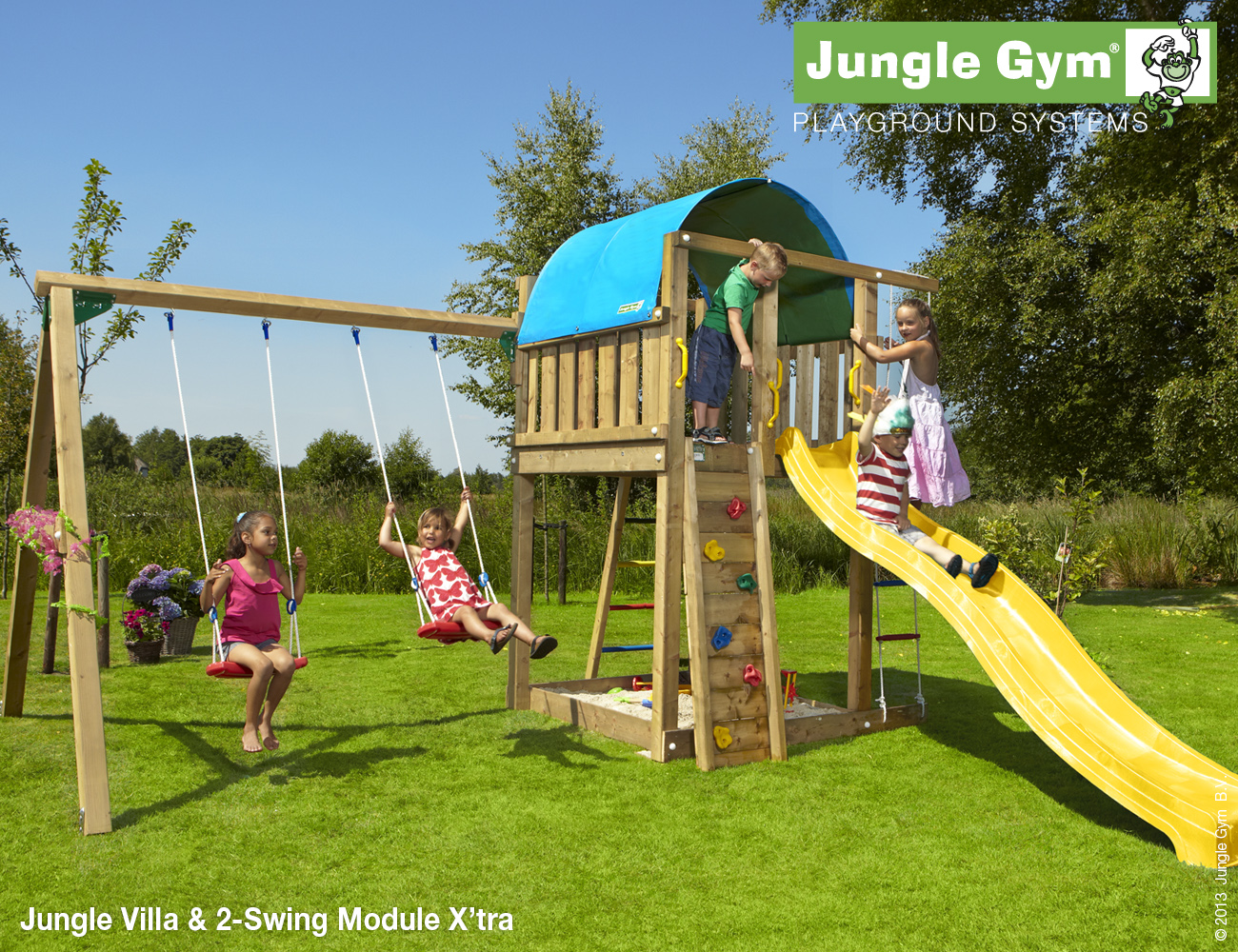 Wooden Climbing Frame with Swings