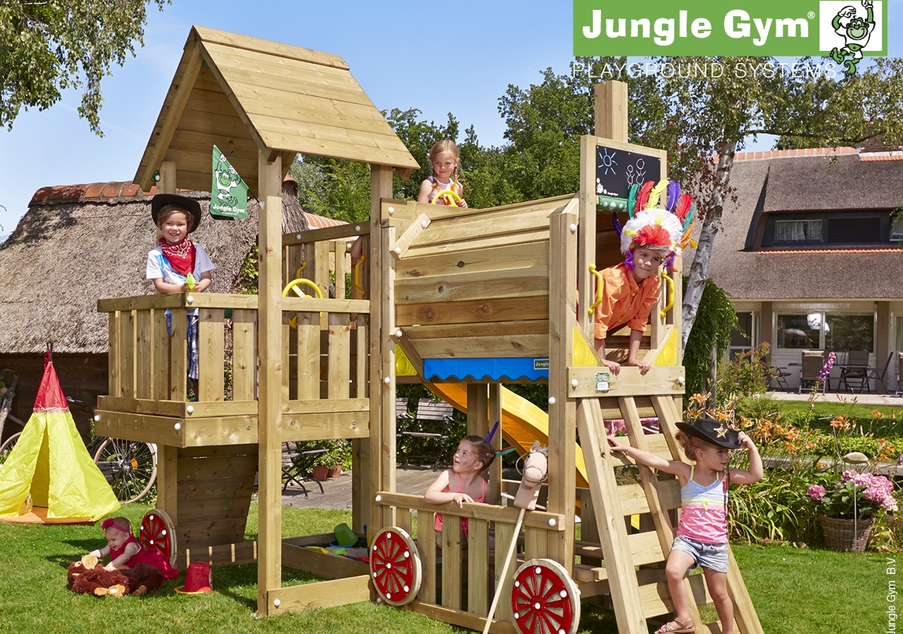 Jungle Cubby shown with Train Module