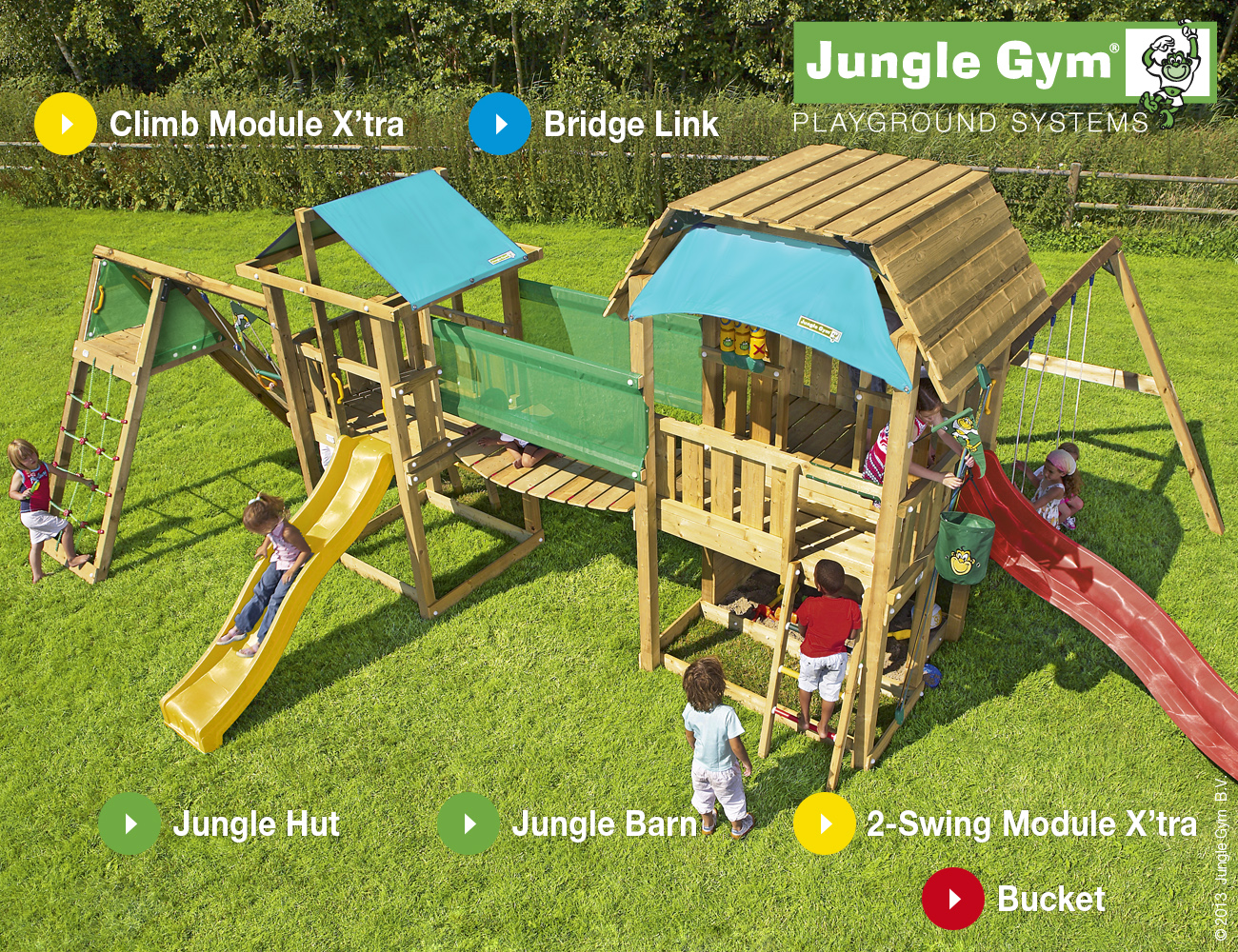 Jungle Gym Mega 1 Climbing Frame