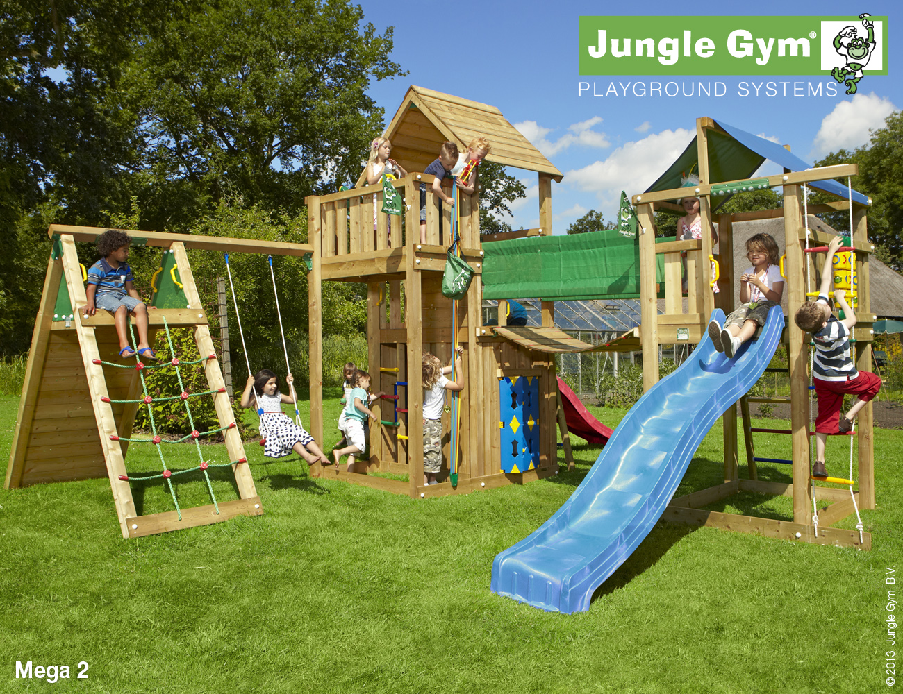 Jungle Gym Mega 2 Climbing Frame