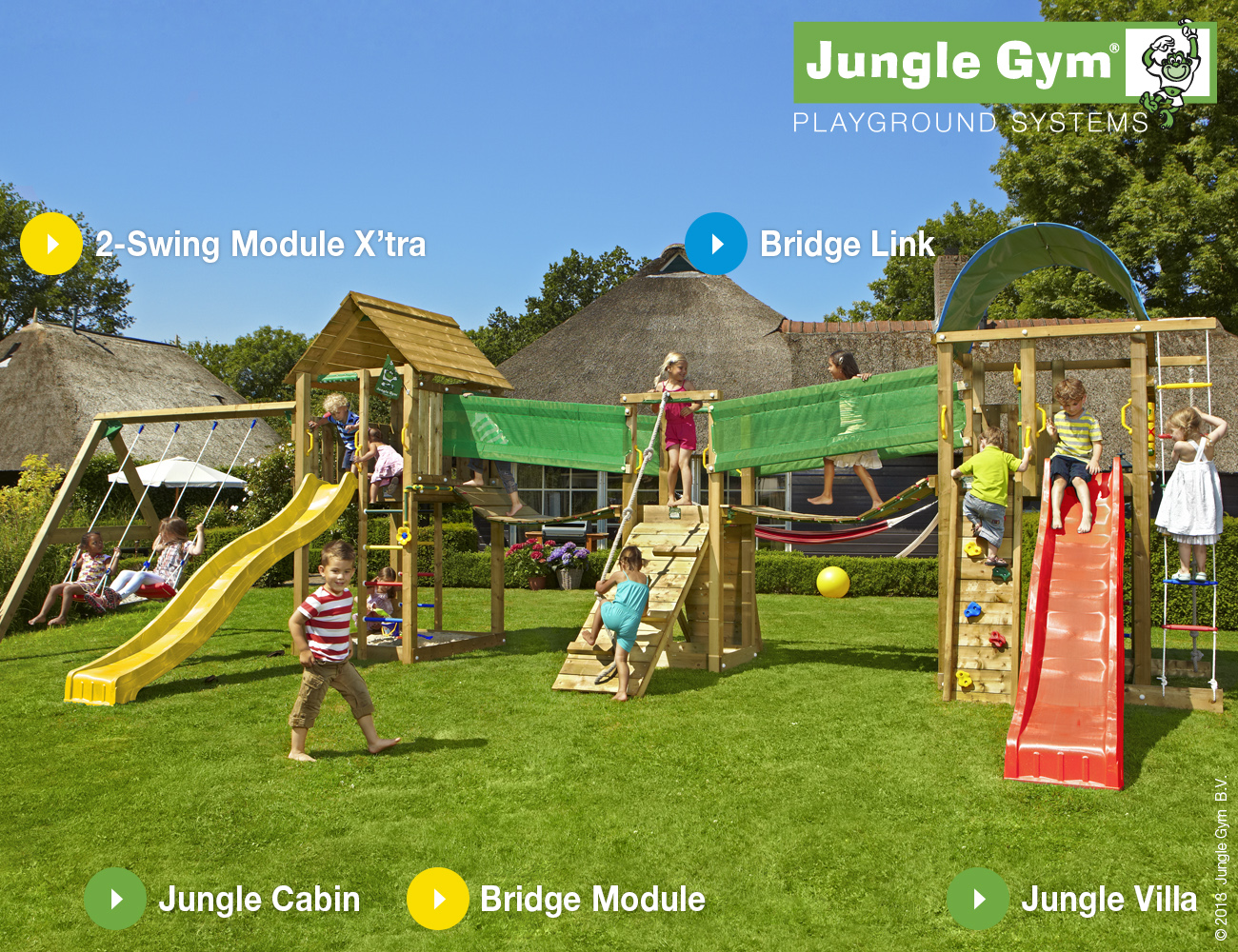 Jungle Gym Mega 3 Climbing Frame