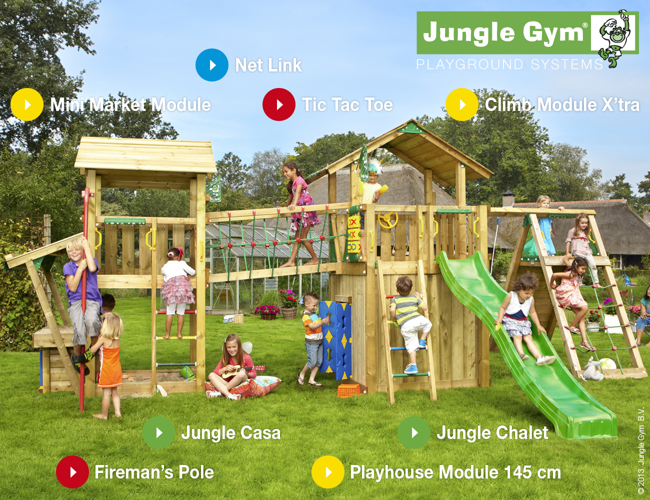Jungle Gym Mega 4 Climbing Frame